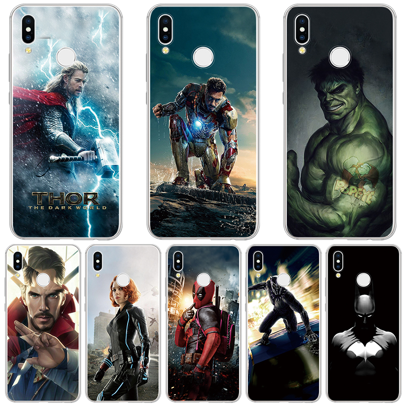 Marvel Avengers comics Case For Huawei Honor 10 Lite 9 7A Pro 10i 20i 8C 8 V9 Play 6 7X TPU Soft For Huawei Honor 8X Case Coque image