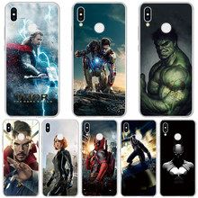 Marvel comics Avengers Case For Huawei Honor 10 Lite 9 7A Pro 10i 20i 8C 8 V9 Jogar 6 7X caso TPU Macio Para Huawei Honor 8X Coque(China)