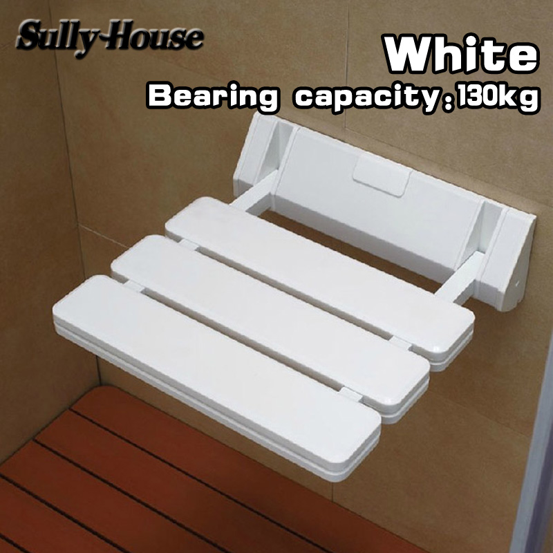 Sully House Anti-skid Shower Folding Seat,Bathroom Cadeira,Wall Mounted Chair for Elderly,Toilet Aluminum Folding Shower Chair bathroom folding seat shower stool shower wall chair stool old people anti skid toilet stool bath wall chair