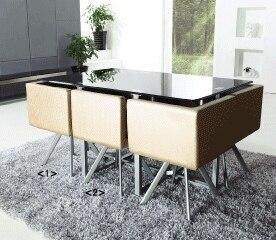 Grado cartera comedor mesa cuadrada mesa de comedor cristal 6 sillas ...
