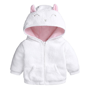 Cute Baby Clothes Girl Jacket Coat Autumn Winter Flannel Warm Boys Outerwear Children Newborn Hooded Baby Boys Infant Clothes