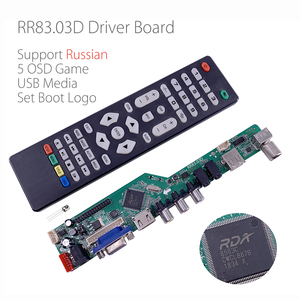 Image 2 - 5 Built in games RR83.03D Universal LCD TV Controller Driver Board TV/AV/PC/HDMI/USB Media Russian language set logo v56