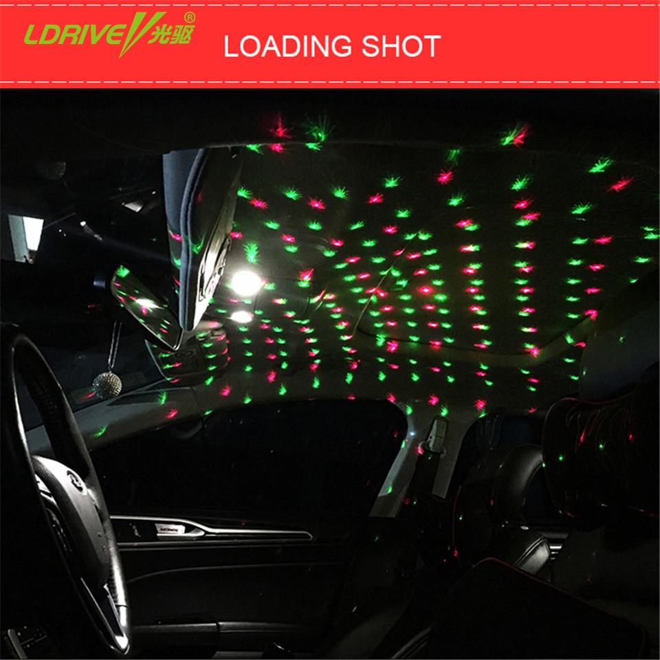 1set usb plug car interior ambient light mini dj club disco projector music rhythm laser star. Black Bedroom Furniture Sets. Home Design Ideas