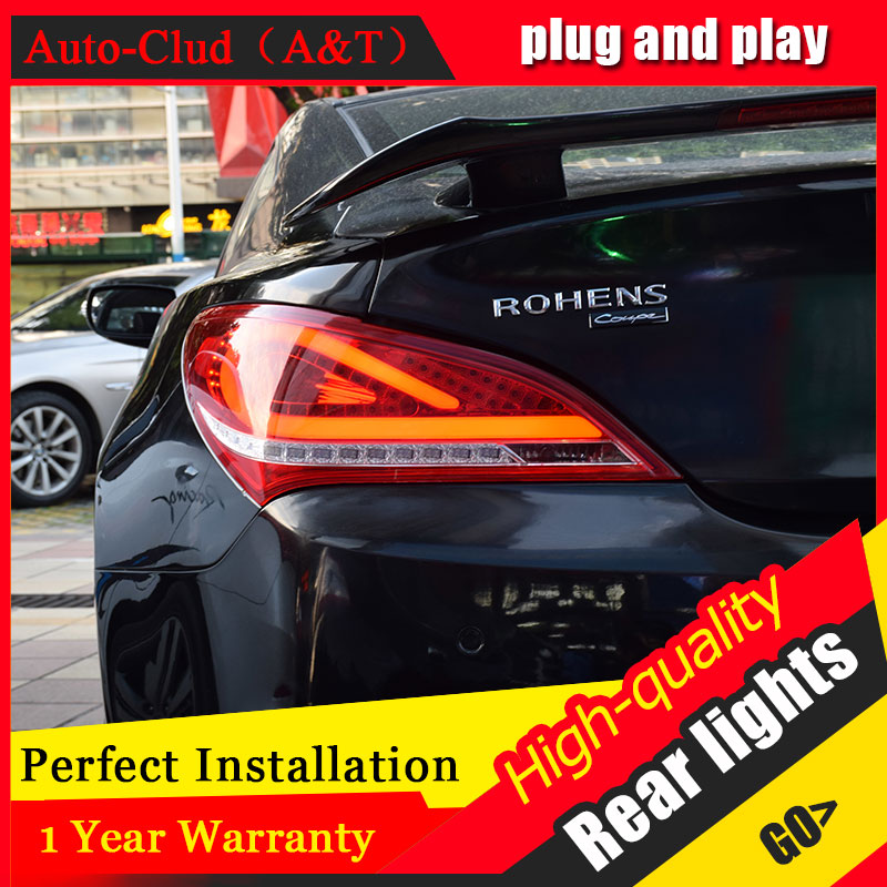 Car Styling for Hyundai Rohens Coupe Taillights 2009 2012 for Coupe LED Tail Lamp Rear Lamp DRL+Brake+Park+Signal led lights