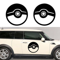 2pcs/set Removable DIY Pokemon Pokeball Car Sticker Truck door Vinyl Decal Wall Graphic New and all Mural Wallpaper D915
