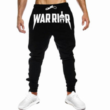 New Fall 2019 Men Cotton Print Sweatpants Gyms Fitness Exercise Jogger Sport Casual Bodybuilding High Quality Brand Pencil Pants