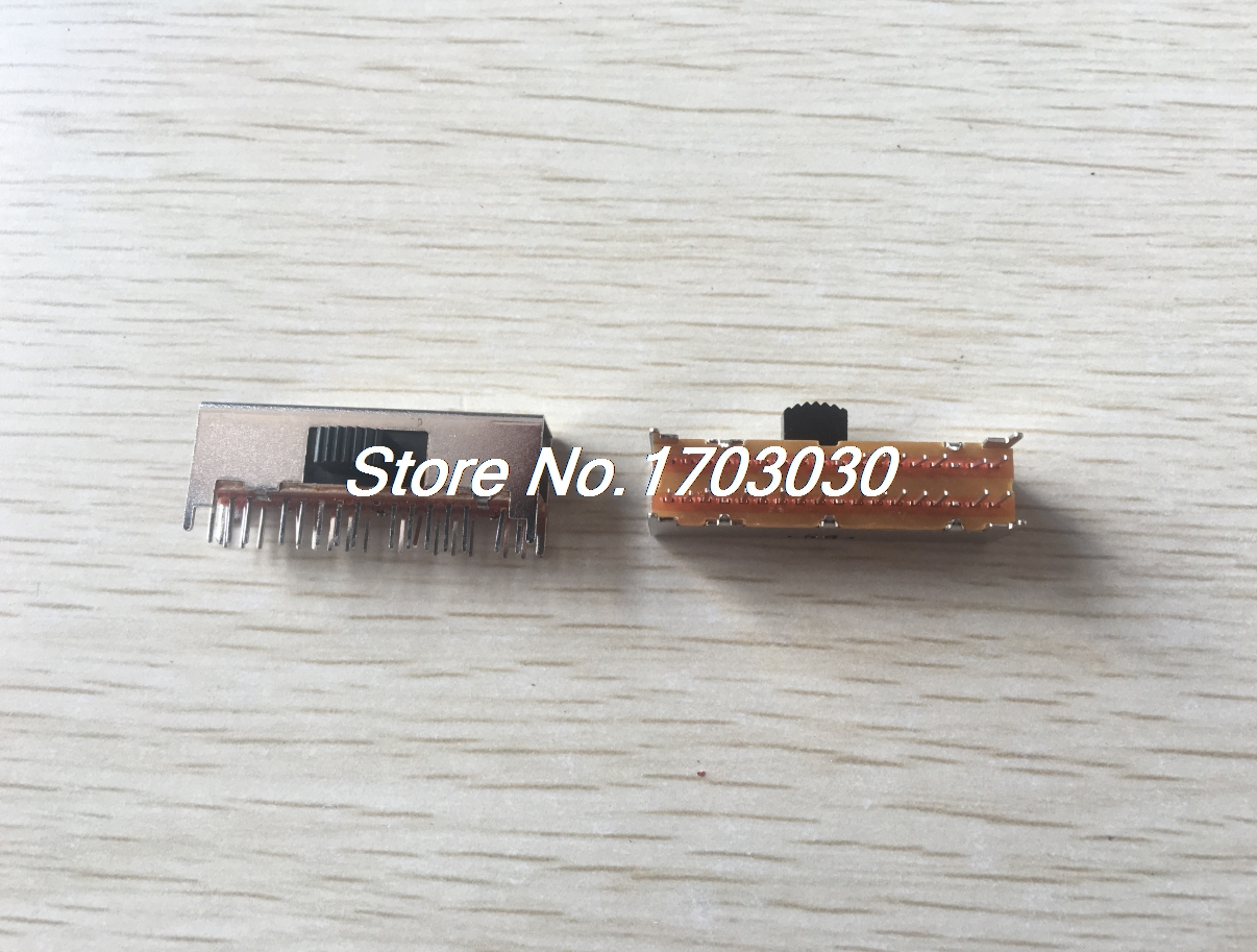 5 Pcs x Panel PCB 30 Pin 4 Position 6P4T Mini Slide Switch Side Knob 0.5A 50V DC 10pc st091y ss24e01 g5 slide switches vertical 10 pin 4 position toggle switch flashlight switch 2p4t dp4t dc 50v 0 5a on sale