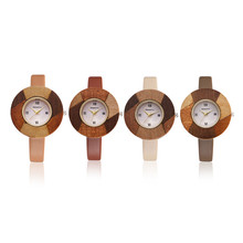 Colorful Round Bamboo Wooden Watches