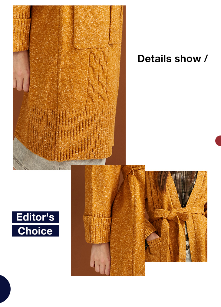 ONLY Women's autumn new cuffed color lace-up sweater | 11833B507 8