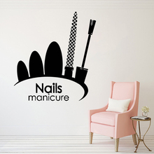 Wall Window Sticker Nail Art Polish Wall Mural Nail Salon Decor Nails Manicure Logo Vinyl Wall Sticker Beauty Salon Decal AY1353