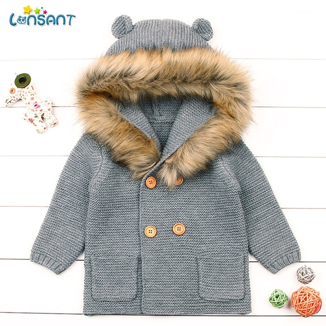 66121fff3 LONSANT Winter Warm Newborn Infant Sweaters Baby Boy Girl Knitting ...