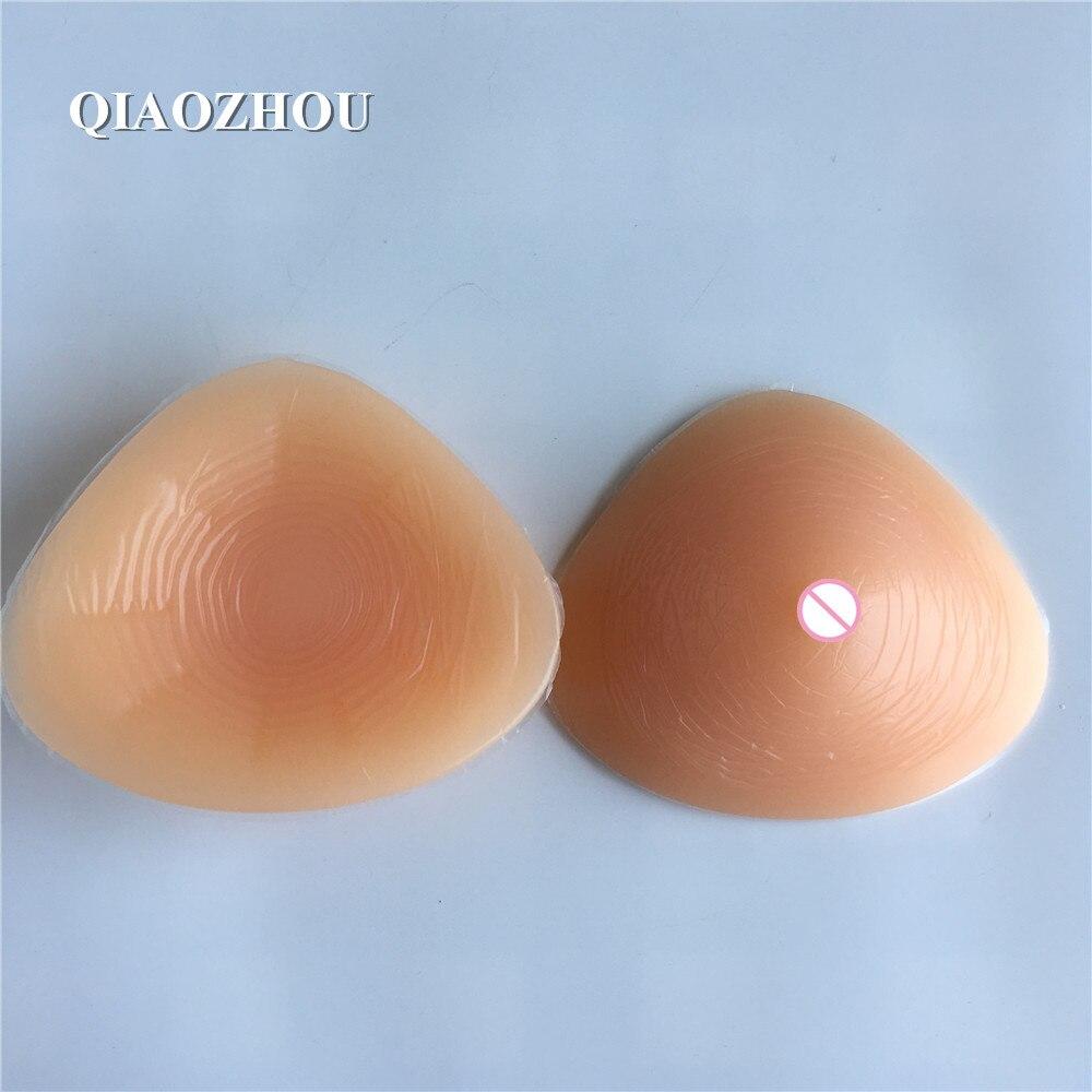 700g triangle soft realistic fake breast prosthesis high quality silicone form boobs for mastectomy crossdress 34c 36c 38b 40b 42d 44b cup big realistic silicone breast prosthesis false boobs pad for mastectomy 1200g