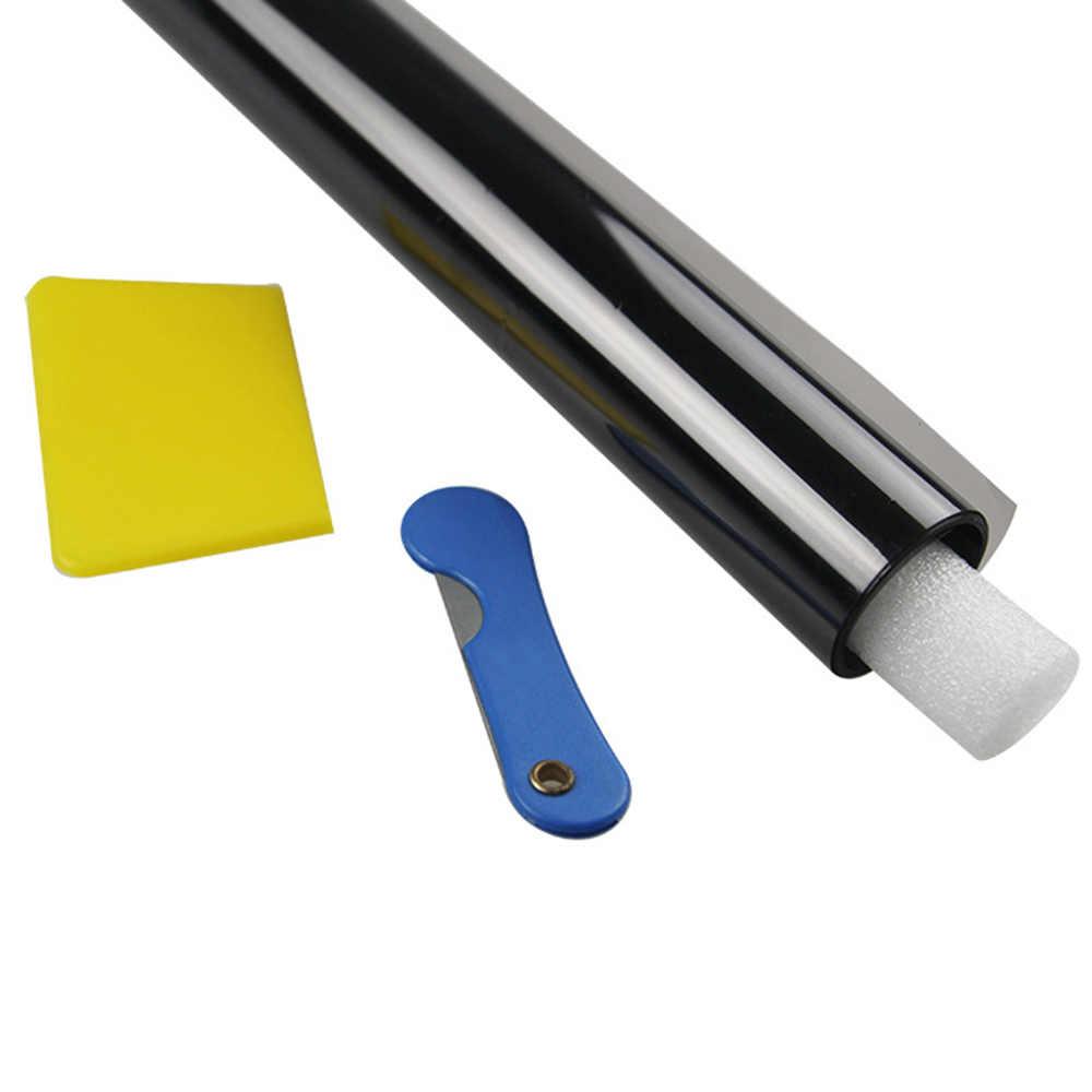 300x75cm VLT Car Home szyba okienna odcień folia barwiąca rolka ze skrobakiem do samochodu boczna szyba blokująca kontrola Anti UV Window