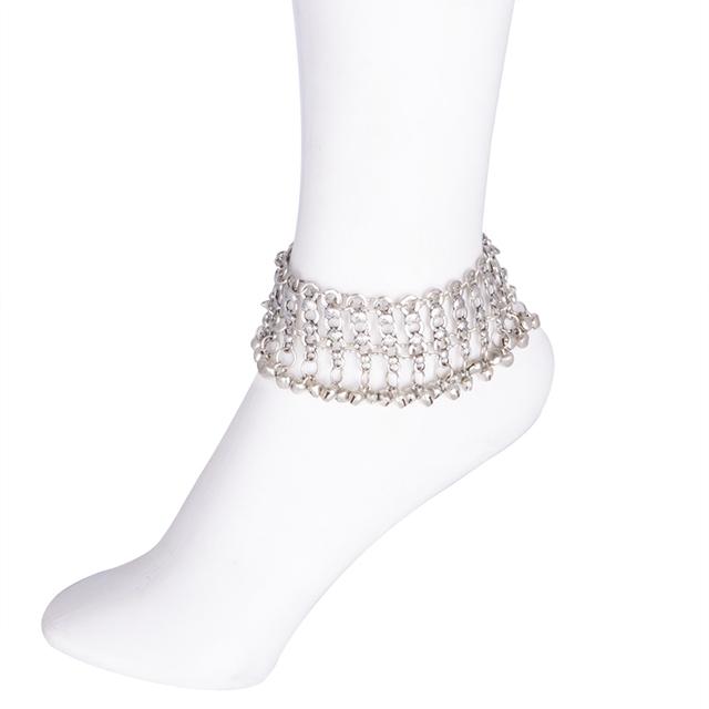 Vintage Silver Bohemian Ankle Bracelet