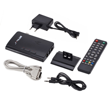 цена на External TV Tuner MTV Box HDTV LCD CRT TV Tuner AV To VGA Receiver Tuner TV Set Top Box With Remote Control for Computer Monitor