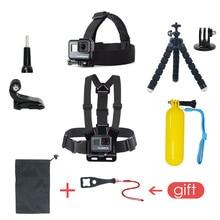 Комплект аксессуаров для Gopro Hero 6 5, комплект для крепления на груди для Gopro Hero 5, плавающая сетка для Xiaomi Yi 4K, SJCAM, Экшн камера EKEN H9