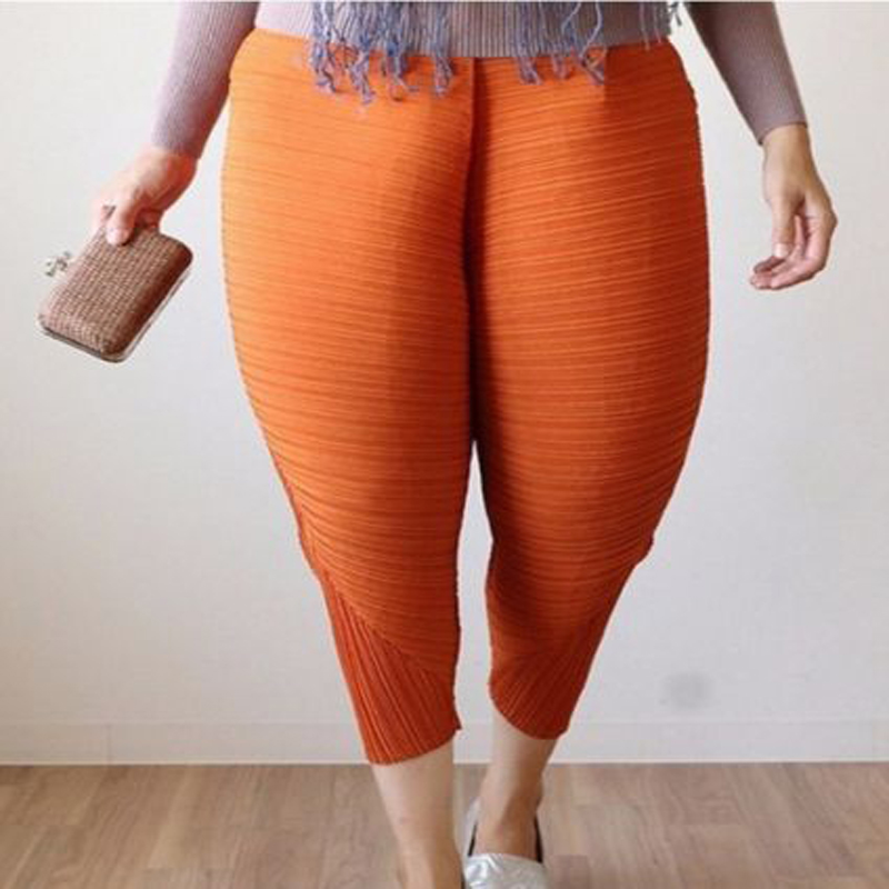 Womens Web Celebrity Loose Haroun Solid Long Pants Fried Chicken Leg Cosplay Elastic Club Wear Trousers