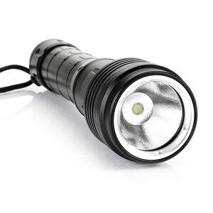 Image 5 - Yeni Model süper parlak su geçirmez 100m XHP50 LED dalış Torch el feneri 5000 lümen dalış meşale