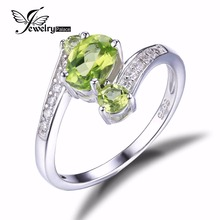 three Stones Pure Peridot Ring Gemstone Strong 925 Sterling Silver 2016 Model New Ladies Scorching Fabulous Classic Attraction High-quality Jewellery