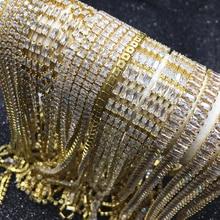 Zirconium claw chain gold dense tip bottom transparent zirconium diamond jewelry DIY accessories