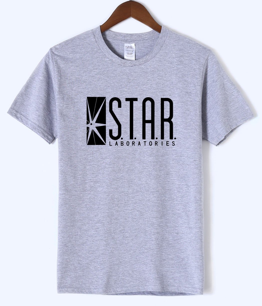 Brand Clothing For Fans The Flash STAR S.T.A.R.labs Men Tshirt 2018 Summer Mens T Shirts Cotton High Quality O-neck Short Sleeve