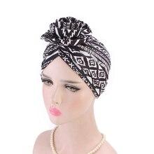 LARRIVED 2019 New Cotton 3D Flower Turban women beanie Chemo Cancer Cap Turbantes Headwear Bandana Wedding Party Hair Accessory