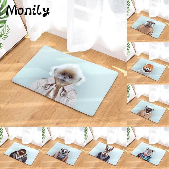 Monily Anti Slip Waterproof Floor Mat Koala Rabbit Monkey Kitchen Rug Bedroom Carpet Decorative Stair