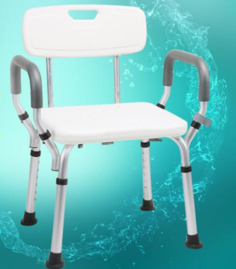 Height-Adjustable Elderly Bath Chair Aluminum Alloy Bathroom Chair Portable Non-Slip Bath Stool baby seat inflatable sofa stool stool bb portable small bath bath chair seat chair school