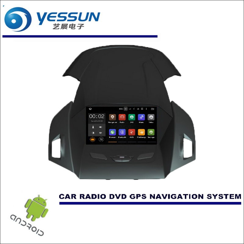 YESSUN Wince / Android Car Multimedia Navigation System For Ford kuga / Escape 2013~2016 CD DVD GPS Player Navi Radio Stereo HD yessun for mazda cx 5 2017 2018 android car navigation gps hd touch screen audio video radio stereo multimedia player no cd dvd