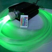 24key IR 45 Вт светодиодный RGB светильник двигатель с 1200 шт 0,75 мм Диаметр 4 м длина PS волоконно-оптический кабель, волоконный комплект