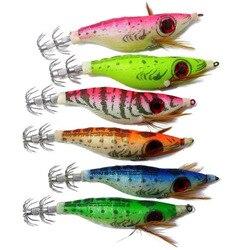 12 sztuk Luminous kalmary przynęty krewetki wędkarstwo twarde przynęty zestaw Węda ciągniona przynęty Noctilucent sztuczne przynęty 10.1 cm pesca