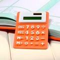 Мягкая клавиатура Портативный Складной Силикона Калькулятор Солнечной Энергии Небольшой Тонкий Карманный Калькулятор