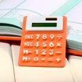 Suave teclado Plegable de Silicona Portátil Calculadora de Bolsillo Calculadora de Energía Solar Pequeño Delgado
