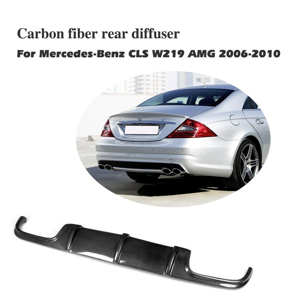 En Fiber De carbone pare-chocs Arrière lip Diffuseur Pour Benz CLS Classe W219 AMG Pare-chocs 2006-2010 Car styling accessoires