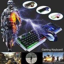 Gaming Keyboard Mechanical Keyboard and Mouse V1 104 Key USB Wired RGB LED Backlit Mechanical Computer illuminated Keyboard