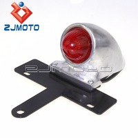Motorcycle Taillight With License Plate Light Sparto Tail Brake Stop Light Lamp For Harley Vintage Custom Chopper