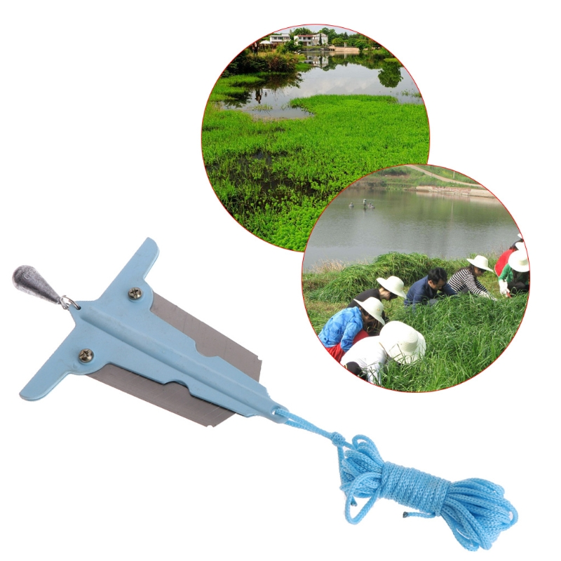 OOTDTY Fishing Water Grass Remover Knife Removal Tools Small Cut Weed Bait With Sinker