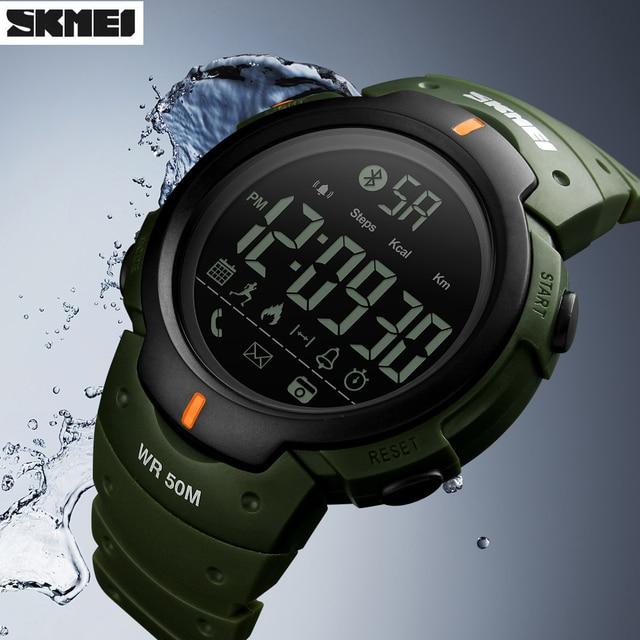 SKMEI Relógio inteligente Bluetooth Câmera Remota de Calorias Pedômetro Digital de Pulso Moda Esporte Smartwatch Para iPhone Android