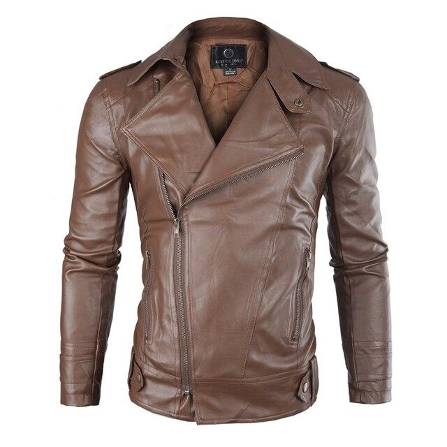 Brand Pu Leather Jacket Men 2016 Winter Motorcycle Jacket Design Mens Slim Fit Biker Jacket Stylish Veste Cuir Homme