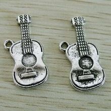Wholesale 150ppcs Zinc Alloy Guitar Charms 25x12mm 0307