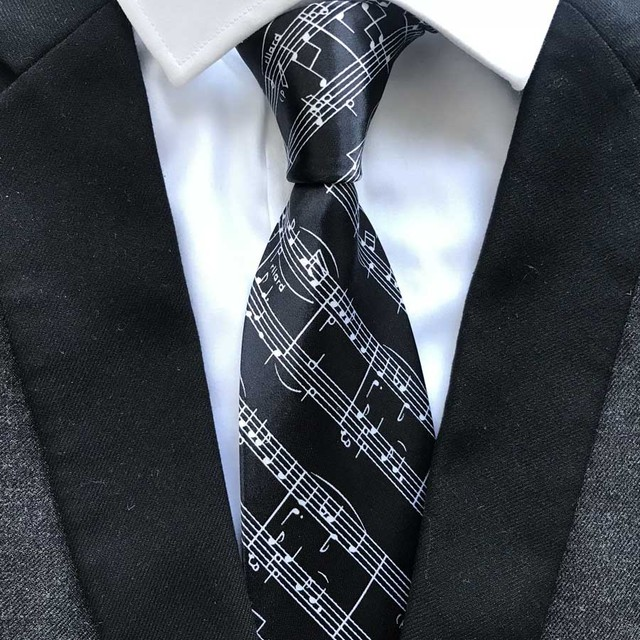 6015dd5d6ea4 9cm Men Formal Designer Musical Necktie Musician performer Ties Gravata for  Party