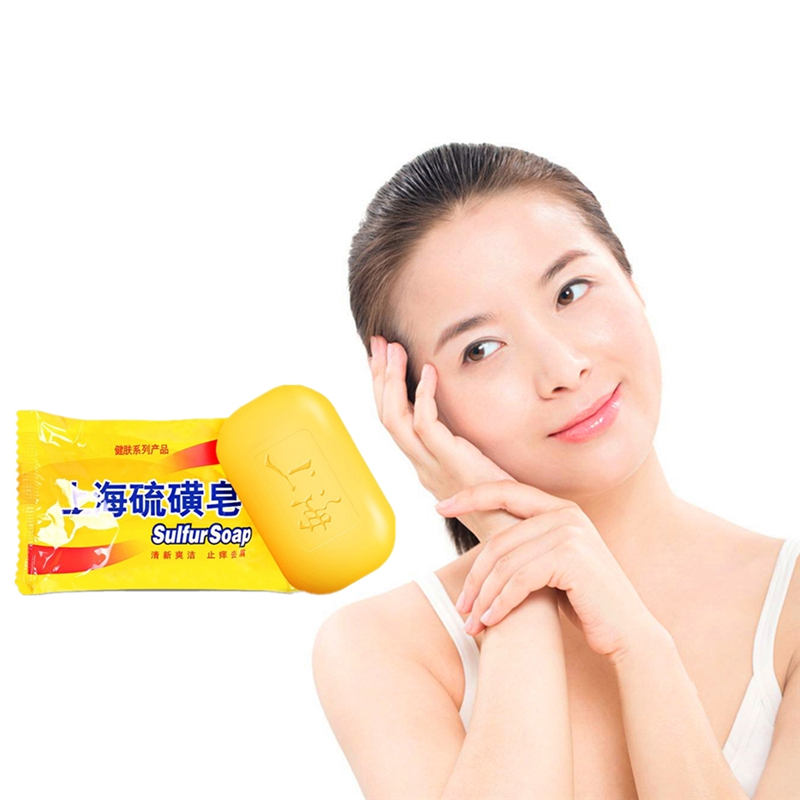 Resultful Clean The Skin Remove Mites Acne Facial Body Whitening Soap ,Sulfur Soap In Antifungal 85g
