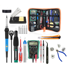 Adjustable Temperature Soldering Iron Kit 220V/110V 60W Electric Soldering Iron Gun Rework Station With Multimeter Welding Tool цена в Москве и Питере