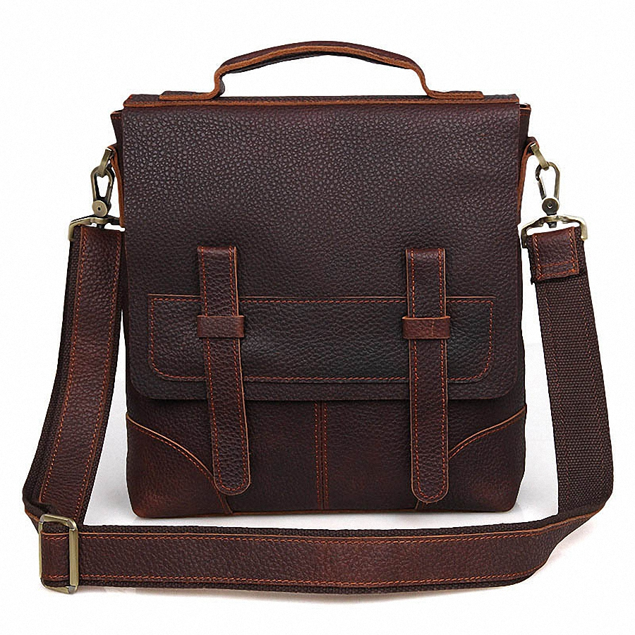 Genuine Leather bag Men Messenger Bags Casual Multifunction shoulder Crossbody Bags Handbags iPad Holder men leather bag LI-1855