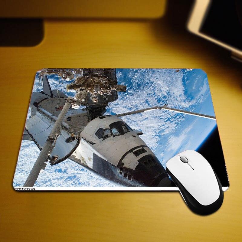 Mairuige Прохладный узор Коврик для мыши шаттл и радио телескоп небольшой стол коврик 220x180x2 мм Размеры для игрок игры Pc Tablemats