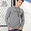Novo 2016 Outono Camisa Dos Homens T de Moda Solta Respirável 100% Algodão Marca AFS JEEP Originais T-shirt de Manga Longa Roupas Casuais
