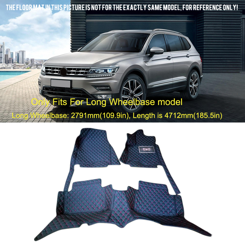 2017 2018 For VW Volkswagen Tiguan Inner Front&back Floor Mats Carpets Foot Pad Protect Cover car rear trunk security shield cargo cover for volkswagen vw tiguan 2016 2017 2018 high qualit black beige auto accessories