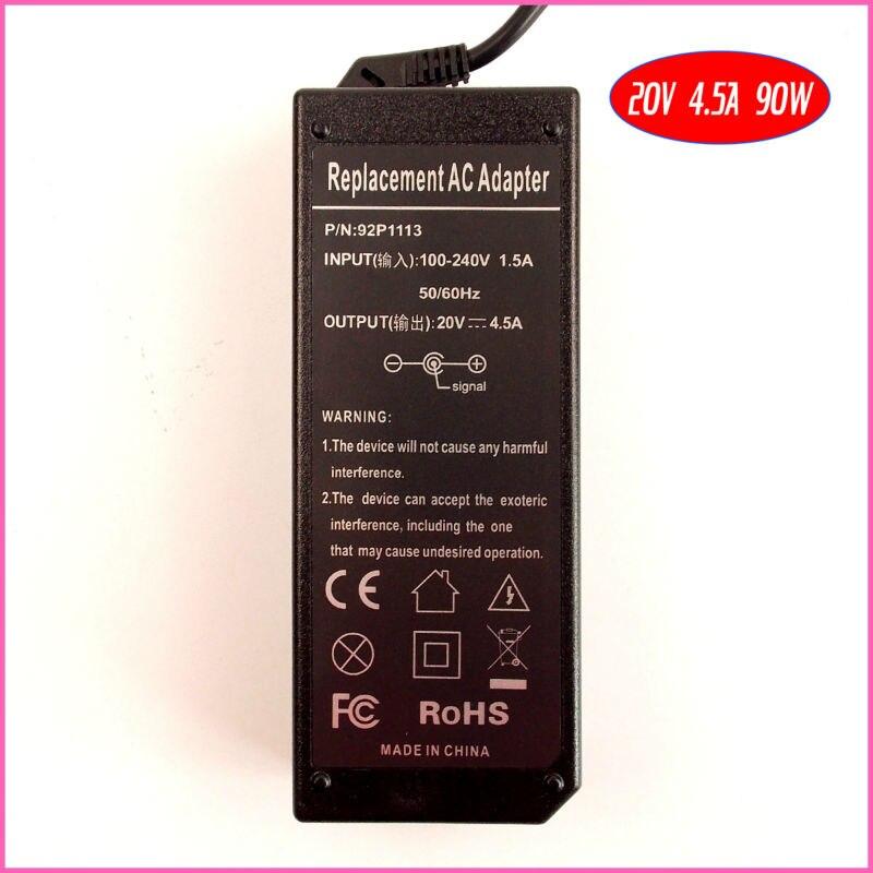 20 В 4.5a 90 Вт ноутбук адаптер переменного тока Зарядное устройство для IBM/Lenovo/ThinkPad Edge e325 e330 E420 E425 e430 E435 E520 E220 E220S e420s