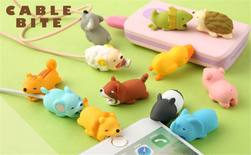 HTB1hIweQYvpK1RjSZFqq6AXUVXaM FFFAS Animal Cable Bite Protector Winder Cute Cartoon Cover Protect Case Wire Organizer Holder For IPhone 7 8 X Plus Earphone