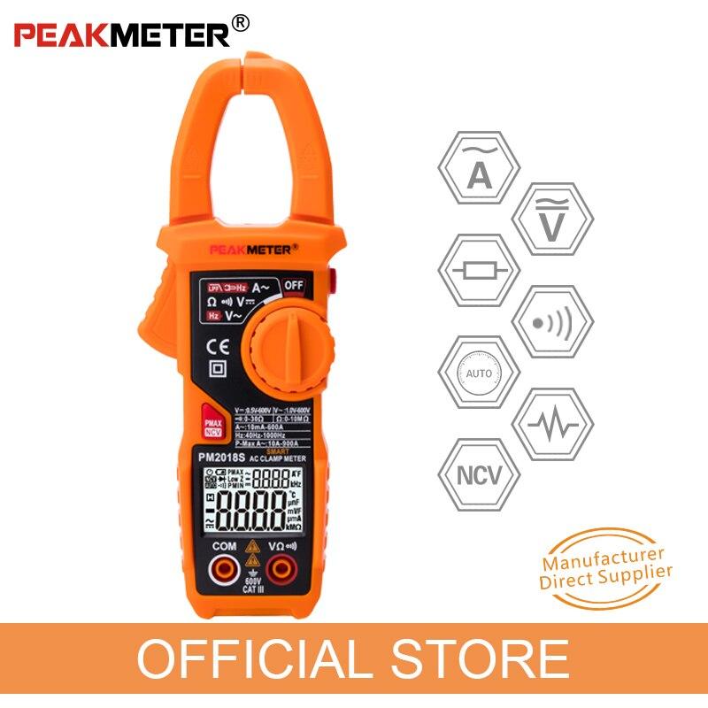 Купить на aliexpress Официальный PEAKMETER портативный Smart AC Цифровой клещи мультиметр переменного тока напряжение сопротивление непрерывности измерения тестер